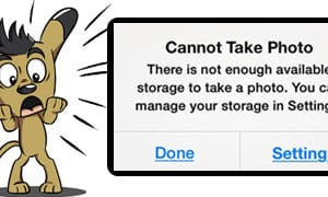 available storage pop-up photo iphone